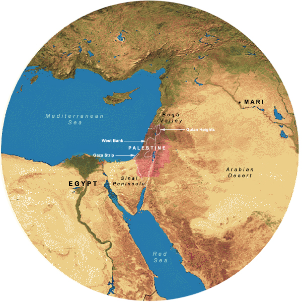 Map Showing 700 Mile Radius from Jerusalem