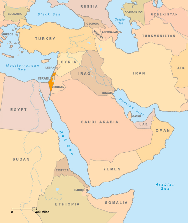 Maps Of The Region Israeli Palestinian Procon Org